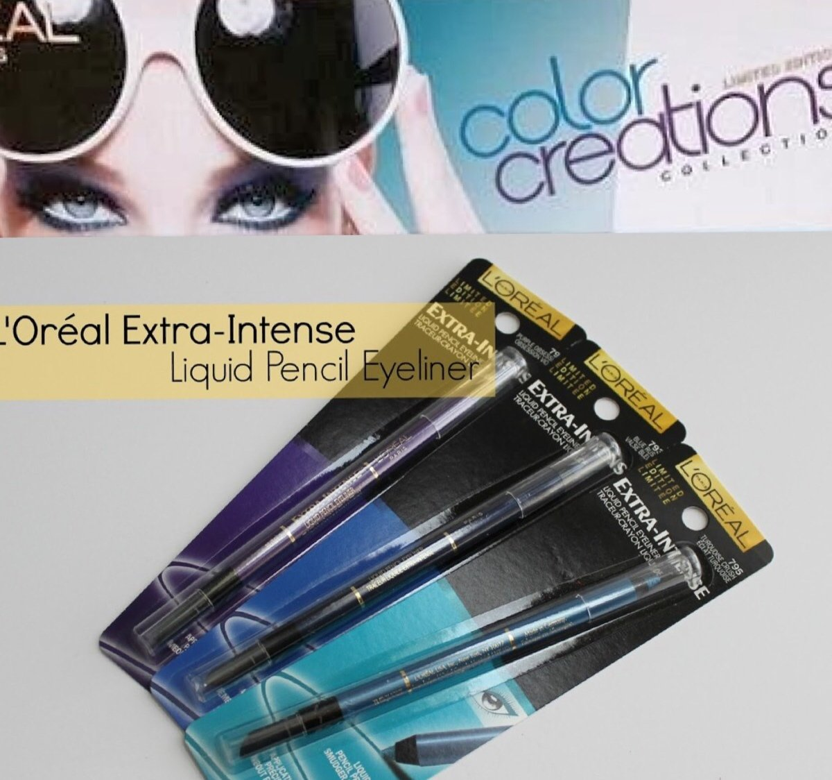 3 L'oreal Extra-Intense Liquid Pencil Eyeliner Color Creations Collection Set
