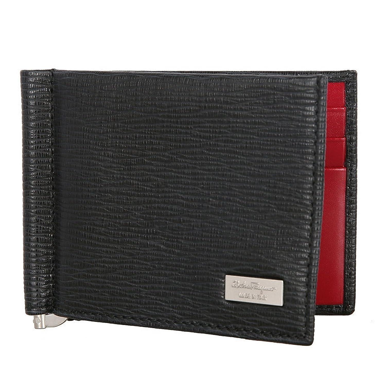 [サルヴァトーレ フェラガモ Salvatore Ferragamo] マネークリップ 財布 ブラック レッド フェラガモ財布 メンズ二つ折り財布 [並行輸入品] B07DNGHVTQ