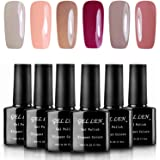 Gellen Soak Off UV LED Gel Nail Polish, Pastel Colors Gift Set - (10ml Each , 6 bottles)