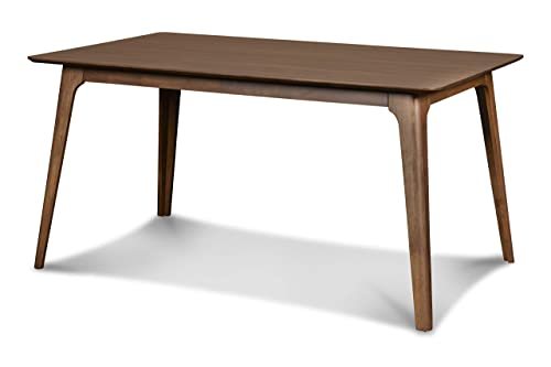New Classic Furniture D1651-11 Mid-Century Modern Oscar Dining Table, 60-Inch, Walnut