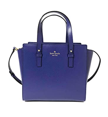 3d5f38de4 Amazon.com: Kate Spade Grand Street Hayden Shoulder Bag Blue ...
