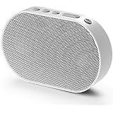 GGMM Mini WLAN Lautsprecher Mobiler Smart Speaker mit Multiroomsystem Powerful Stereo-Sound ( nur 2,4 GHz ) 15-Stunden-Spielzeit Bluetooth Lautsprecher integrierter Amazon Alexa Funktion, Unterstützt die Anbindung an Spotify, Airplay, DLNA, iHeartRadio, Sirius XM, Tidal Napster usw. Weiß