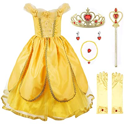 JerrisApparel Princess Costume Deluxe Party Fancy Dress Up for Girls: Clothing