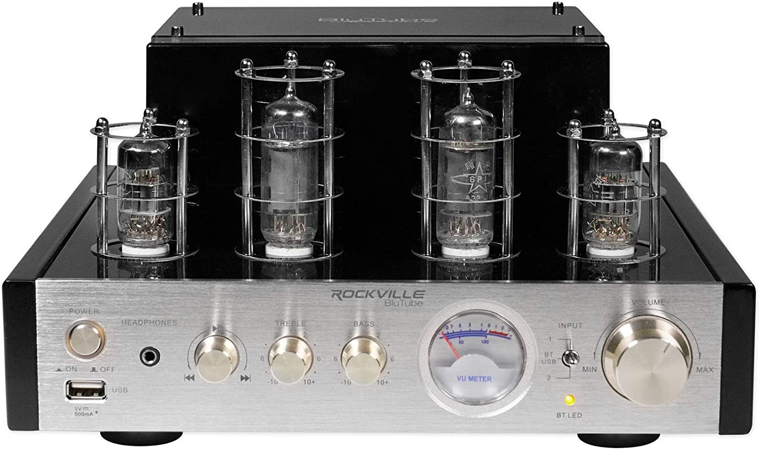 Rockville BluTube SG 70W Tube Amplifier/Home Theater Stereo Receiver W/Bluetooth