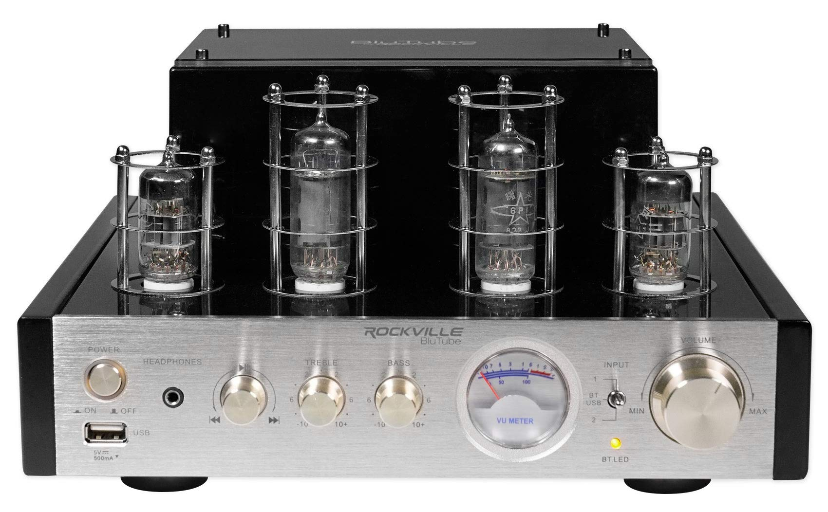 Rockville BluTube 70W Tube Amplifier/Home Theater Stereo Receiver with Bluetooth by Rockville