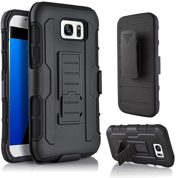 finest selection 1900d 4db51 Amazon.com: Galaxy S7 Holster, PT Belt Swivel Clip Dual Layer Heavy ...