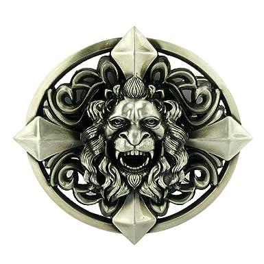 c65a1f0f7ec4 P Prettyia Boucle De Ceinture Gothique 3D Lion Head Metal Cool Nouveauté  Rodeo Western Cowboy