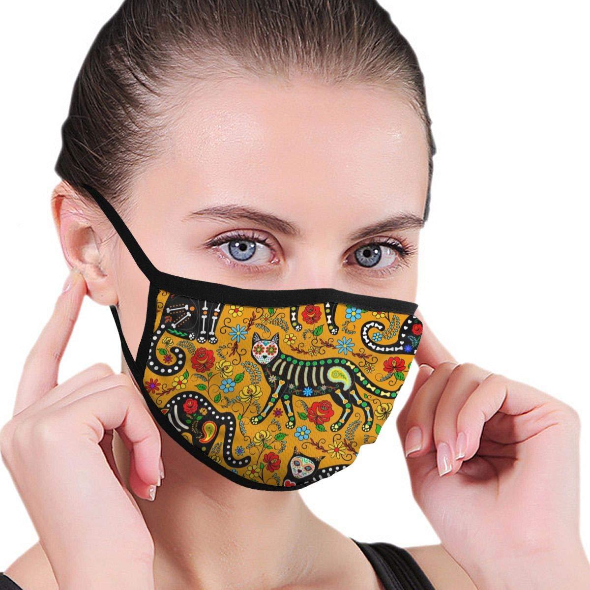 Máscaras bucales de Patrones sin Fisuras Calavera Calavera de azúcar Máscara Negra Máscaras de algodón Lavables para la Boca Máscaras faciales para Hombres y Mujeres: Amazon.es: Bricolaje y herramientas
