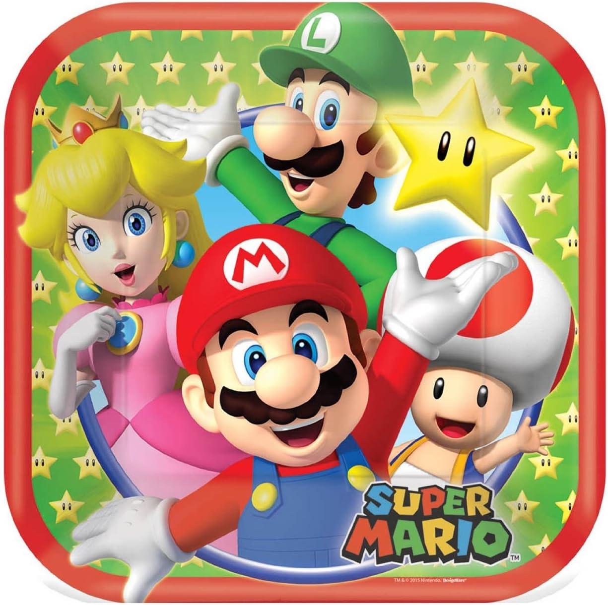 Super Mario Bros Party Pack para 8 Invitados (32 Piezas): Amazon.es: Juguetes y juegos