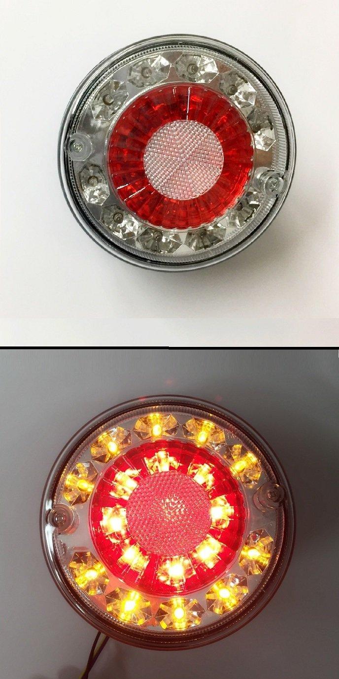 2 x 12 V LED luces de hamburguesa cola trasera cami/ón trailer chasis caravana Camper volquete