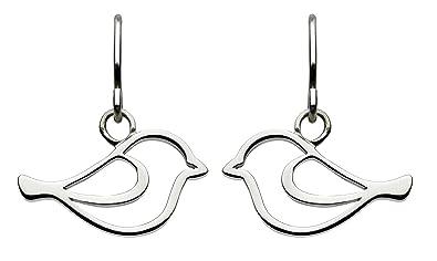 Dew Sterling Silver Bird Stud Earrings haCJOHg