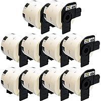 Yellow Yeti 10 Rollos DK-11209 29 x 62mm Etiquetas de dirección compatibles para Brother P-Touch QL-500 QL-570 QL-700 QL…