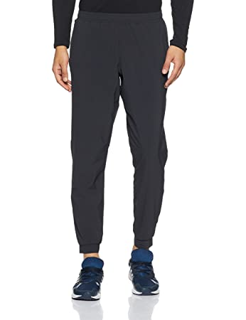 38af273522e3 Asics 2018 Elasticated Stretch Woven Pants Mens Sports Trousers Performance  Black Small