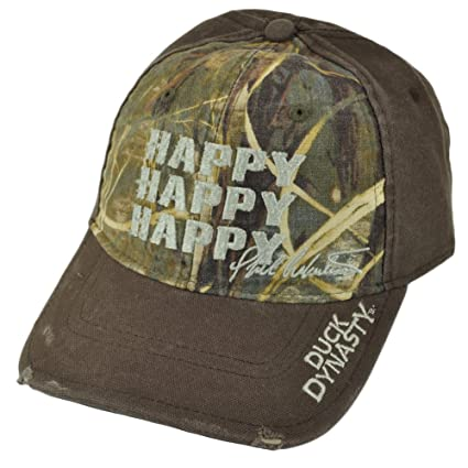0f444c8587da1 Amazon.com   Outdoor Cap Duck Commander Duck Dynasty Happy Happy Happy  Brown Realtree Max-4 Camo Hat   Baseball Caps   Sports   Outdoors
