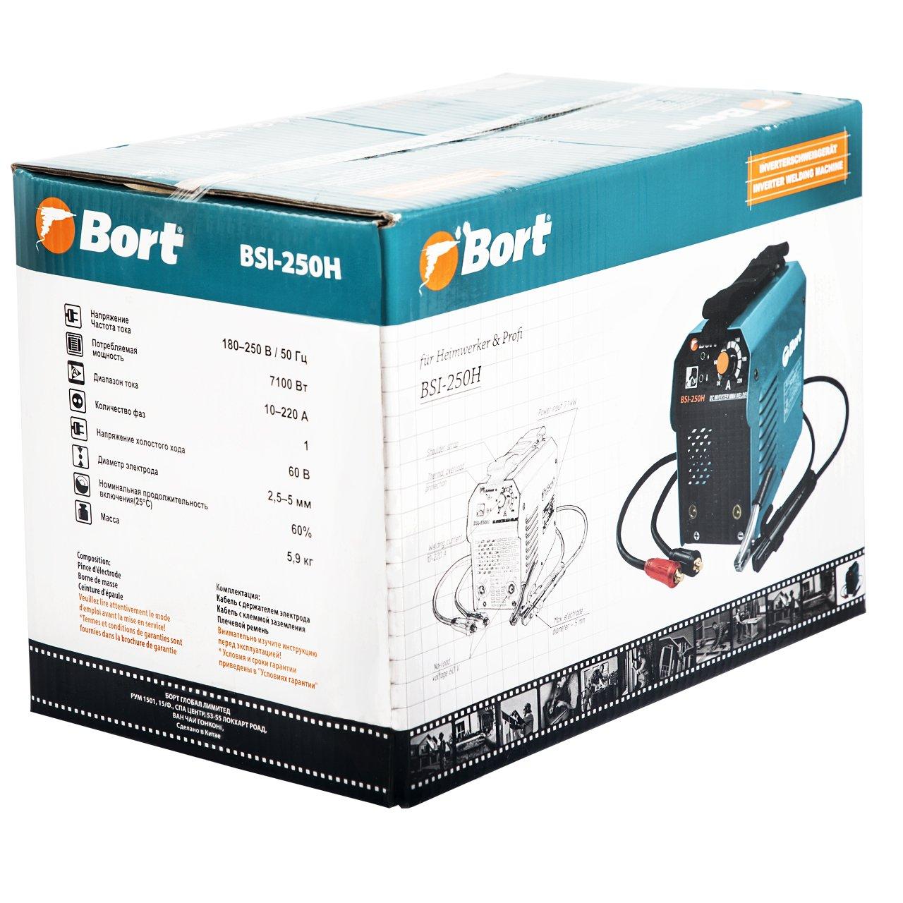 Bort BSI-250H soldador inverter. 220 A, 2,5 - 5 mm, 7100 W, 180 - 250 V.: Amazon.es: Bricolaje y herramientas