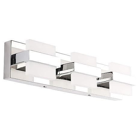 Amazon.com: SOLFART - Lámpara LED para baño (acrílico, acero ...