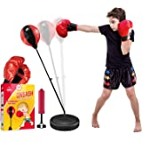 EMAAS Punching Bag for Kids Inc Boxing Gloves, Air Pumper | 3-8 Years Old Adjustable Stand-Safe for Kids - Above-Great…