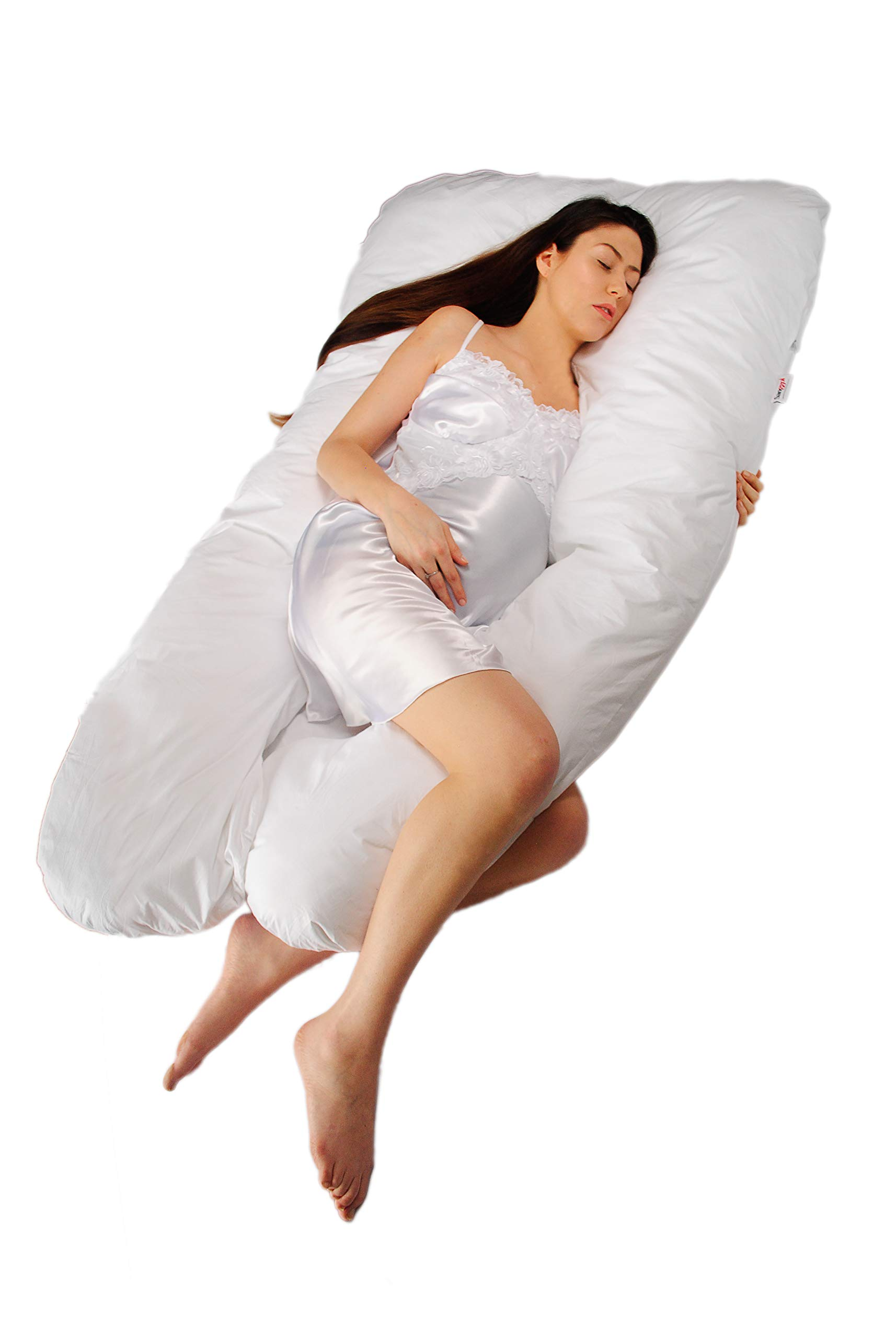 Sanggol Full Body Pregnancy Pillow U Shape Maternity Support Pillow with Washable Removable Cover