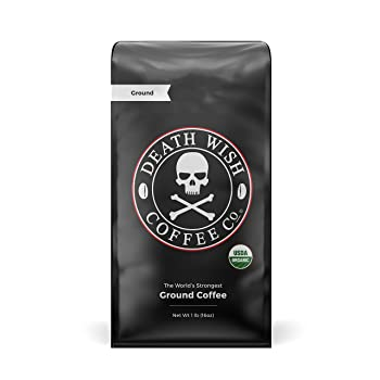 Death Wish Coffee Dark-Roast Grounds Coffee