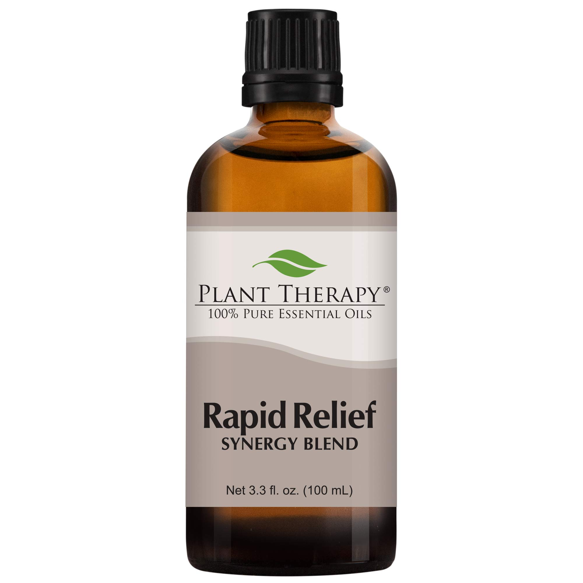 Plant Therapy Essential Oils Rapid Relief Synergy - Pain and Soreness Blend 100% Pure, Undiluted, Natural Aromatherapy, Therapeutic Grade 100 mL (3.3 oz) by Plant Therapy