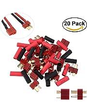 UEETEK T-Plug Conectores Deans estilo macho y hembra para RC LiPo Batería - 10 Pares