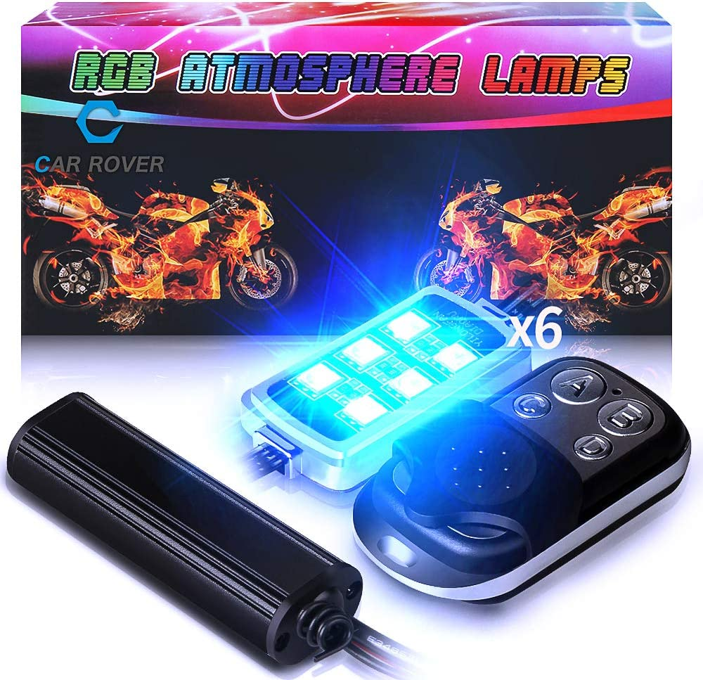 NBWDY Million Color 6pc strip led Motorcycle Cellphone app Bluetooth Controller Motorcycle LED Light Kits with Music Sync for motorcycle,ATV,golf Car