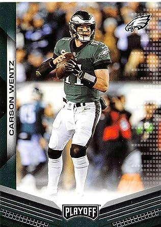 5 Carson Wentz Football Cards Assorted Philadelphia Eagles Trading Cards Bundle