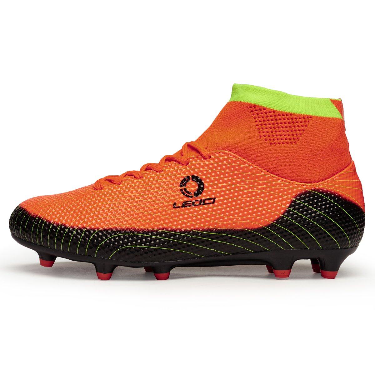 Leoci Athletic Men's Ground Soccer Football Shoe Lighting Outdoor Soccer Kid's Cleat(Little Kid Big Kid)