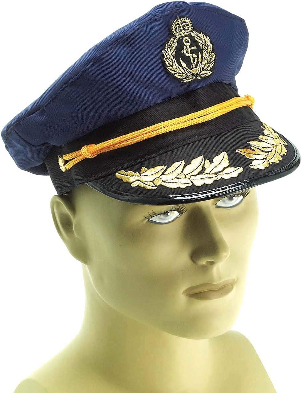 Forum Novelties Yacht Captains Hat for Adults, Navy Blue