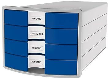 Han cajones caja Impuls, DIN A4/C4, 4 cajones cerrados, azul ...