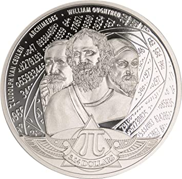 Power Coin Number PI 1 Oz Moneda Plata 3.14$ Solomon Islands 2020 ...