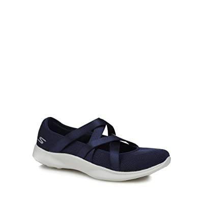 3d7b23b990a7 Skechers Womens Navy Knitted  Serene Elation  Pumps  Amazon.co.uk ...
