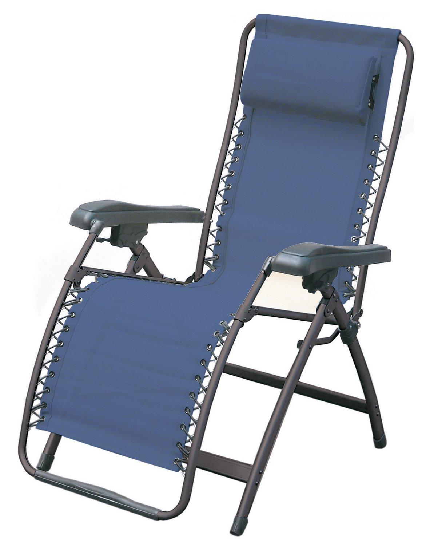 Ferrino Comfort Liege klappbar Camping und Garten, Blau