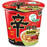 Nongshim Shin Ramyun Vegan, 2.64 Ounce, Pack of 6