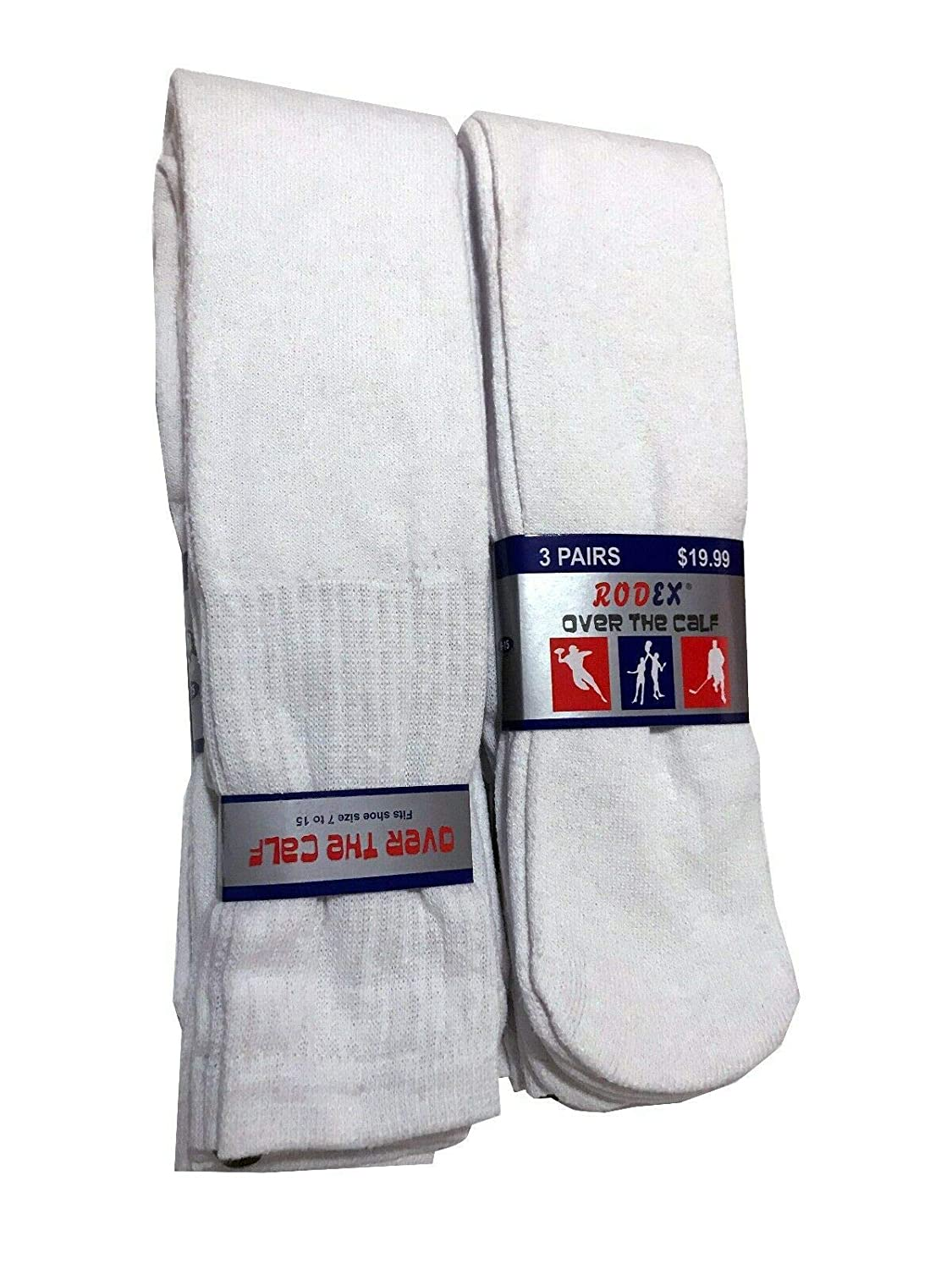 Mens Big /& Tall Sports Tube Socks 3//6//12 PackOver The Calf 26 inches Available in 3 Colors