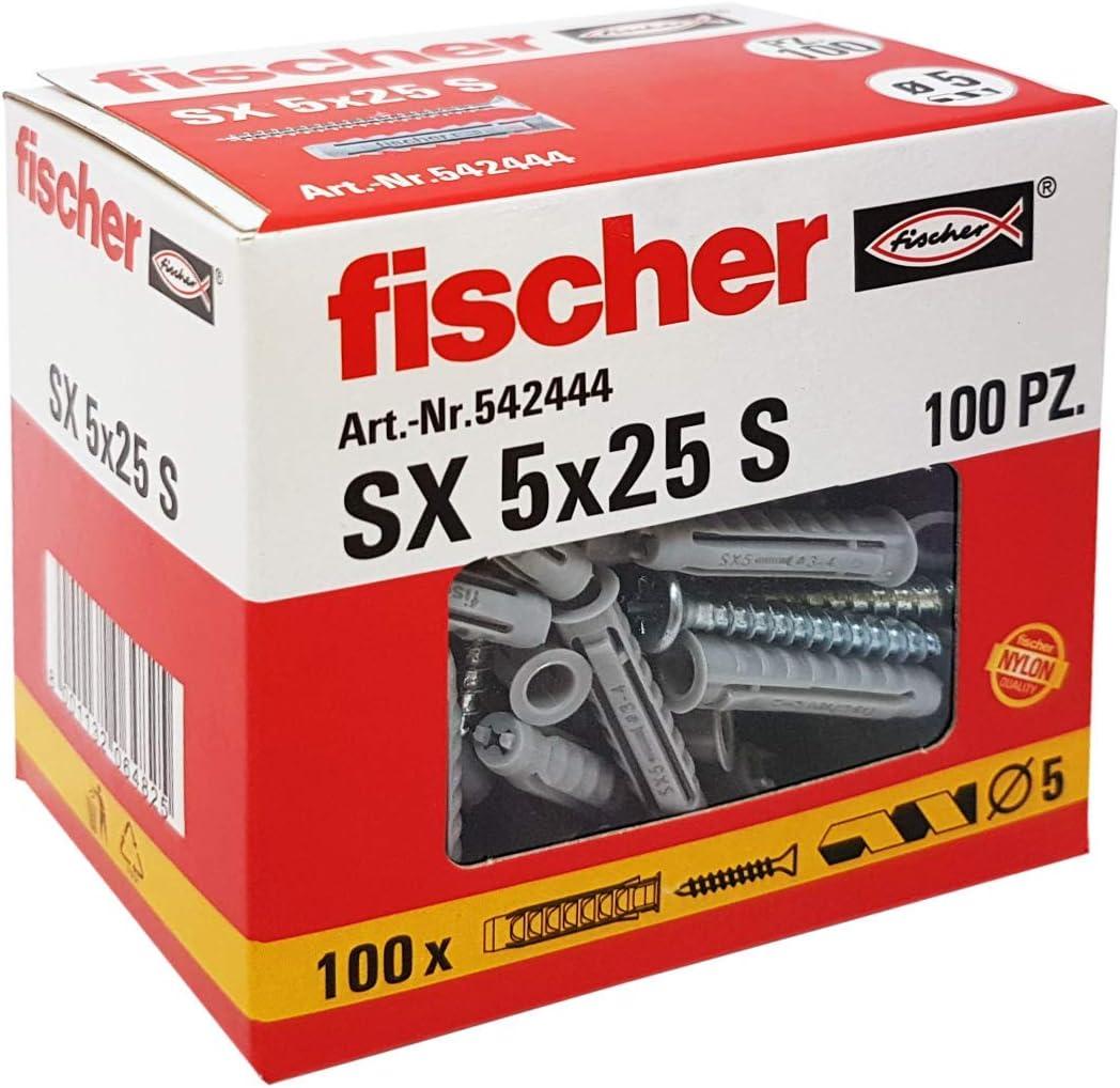 Tasselli Fischer Sv Con Vite Pezzi 100 S 5V