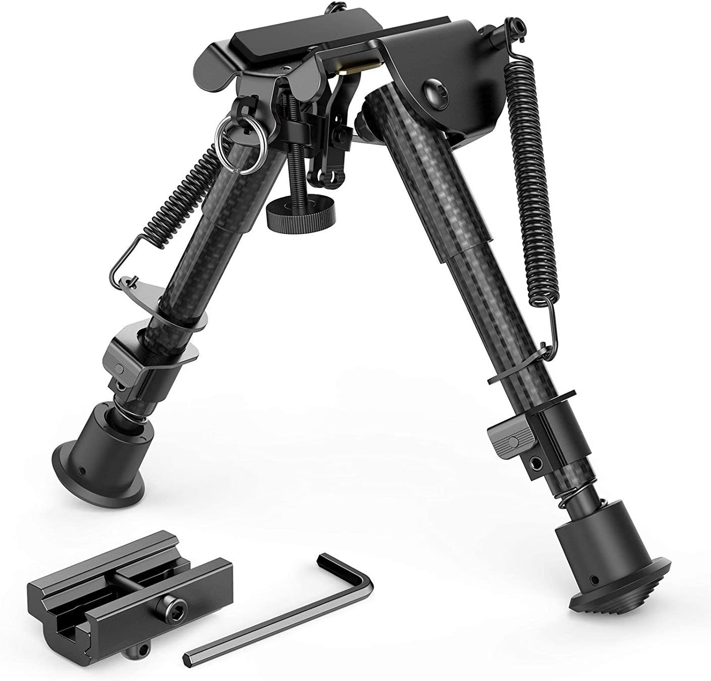 """XAEGIS CARBON FIBER 6""""-9"""" INCH BIPOD WITH PICATINNY ADAPTER  BIPOD FOR RUGER PRECISION RIFLE"""