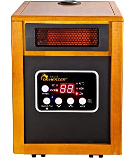 dr  infrared heater portable space heater with humidifier, 1500-watt