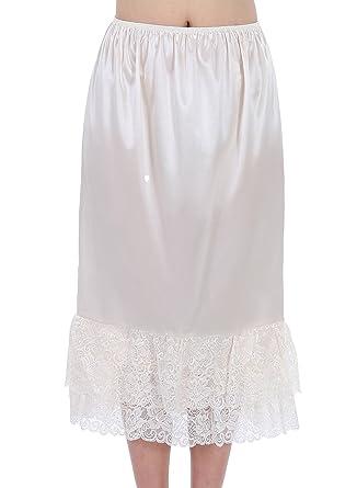 dcb3141d87a8 Timormode Jupon Noir Femme Fille Moulante Lingerie Jupon sous Robe Vintage  Stretch Fit au Genou 10188C