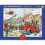 Spiegelburg 14435 Rahmenpuzzle Der Feuerwehreinsatz (24 Teile)
