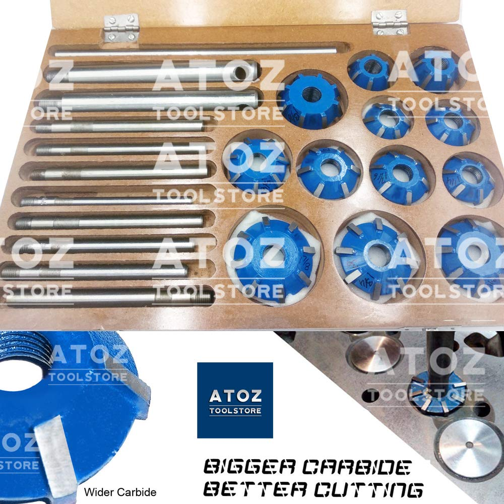 ATOZ.Toolstore Colorful Carbide Tipped Valve Seat Face Cutters 30 45 70 (20 Bore Degree) Arbor RODS, Handles (12x (3 Angle Job Cut))