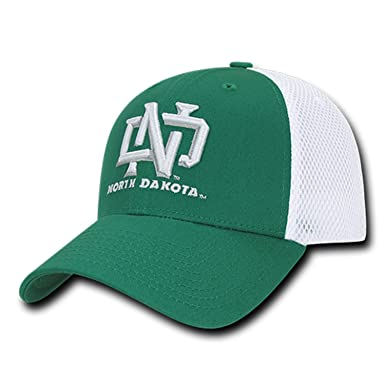 University of North Dakota UND Fighting Sioux Mesh Structured Flex Baseball  Fitted Ball Cap Hat