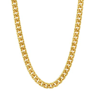 The Bling Factory Durable Stainless Steel 3mm Cuban Curb Link Chain Necklace + Microfiber Jewelry Polishing Cloth e64Q3LL