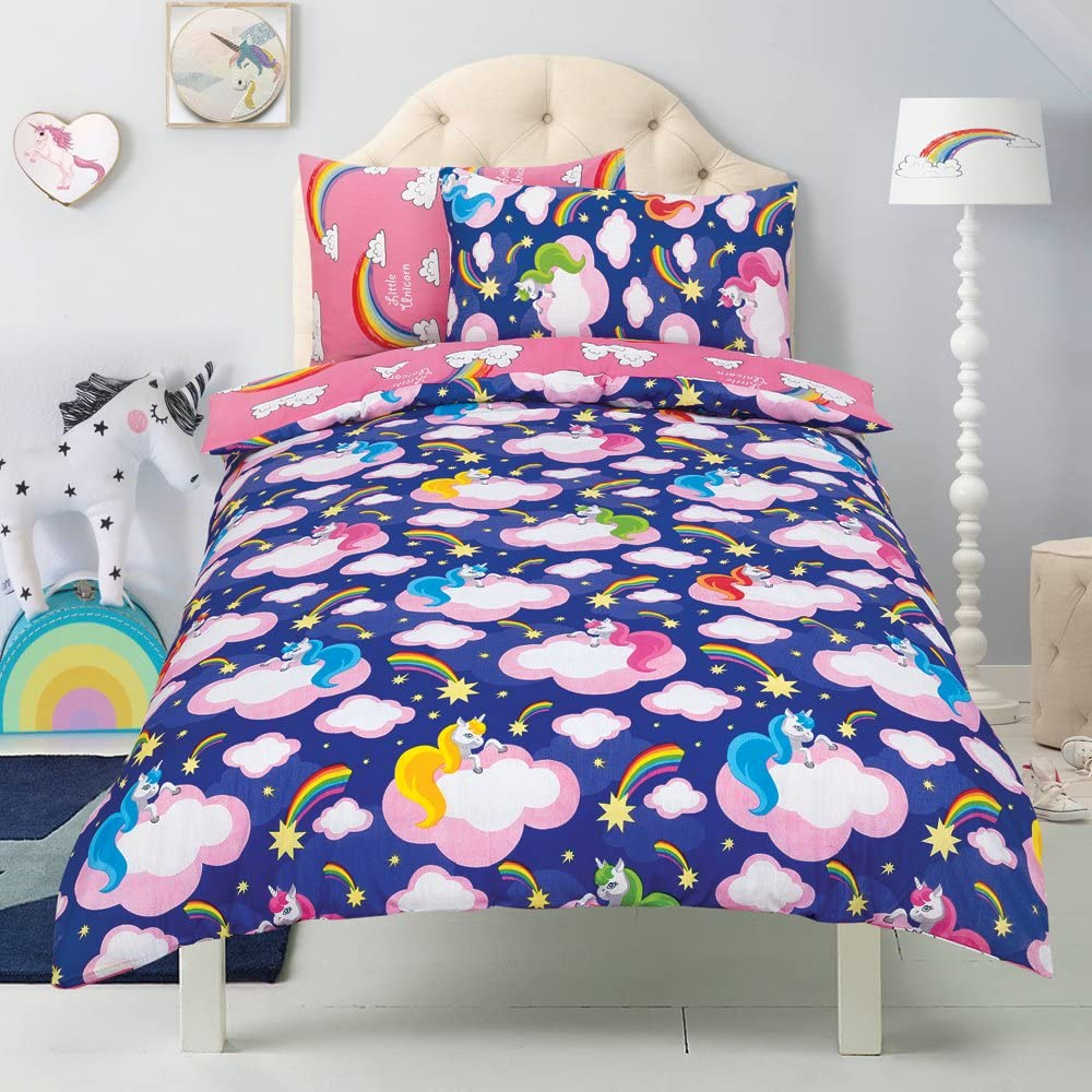 Todd Linens Kids 2 in 1 Reversible Quilt Duvet Cover and Pillowcase Bedding Bed Double £6.99 & FREE Delivery @ Amazon