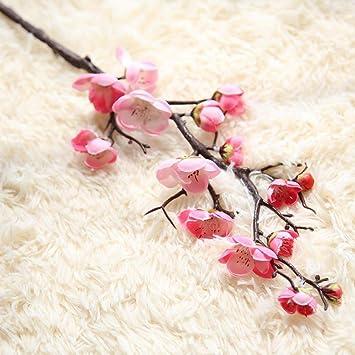 Amazon Vovomay Fake Flowers Artificial Plum Silk Flowers