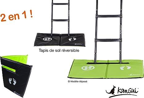 KANGUI Alfombra de suelo Universal para trampolín – Reversible ...