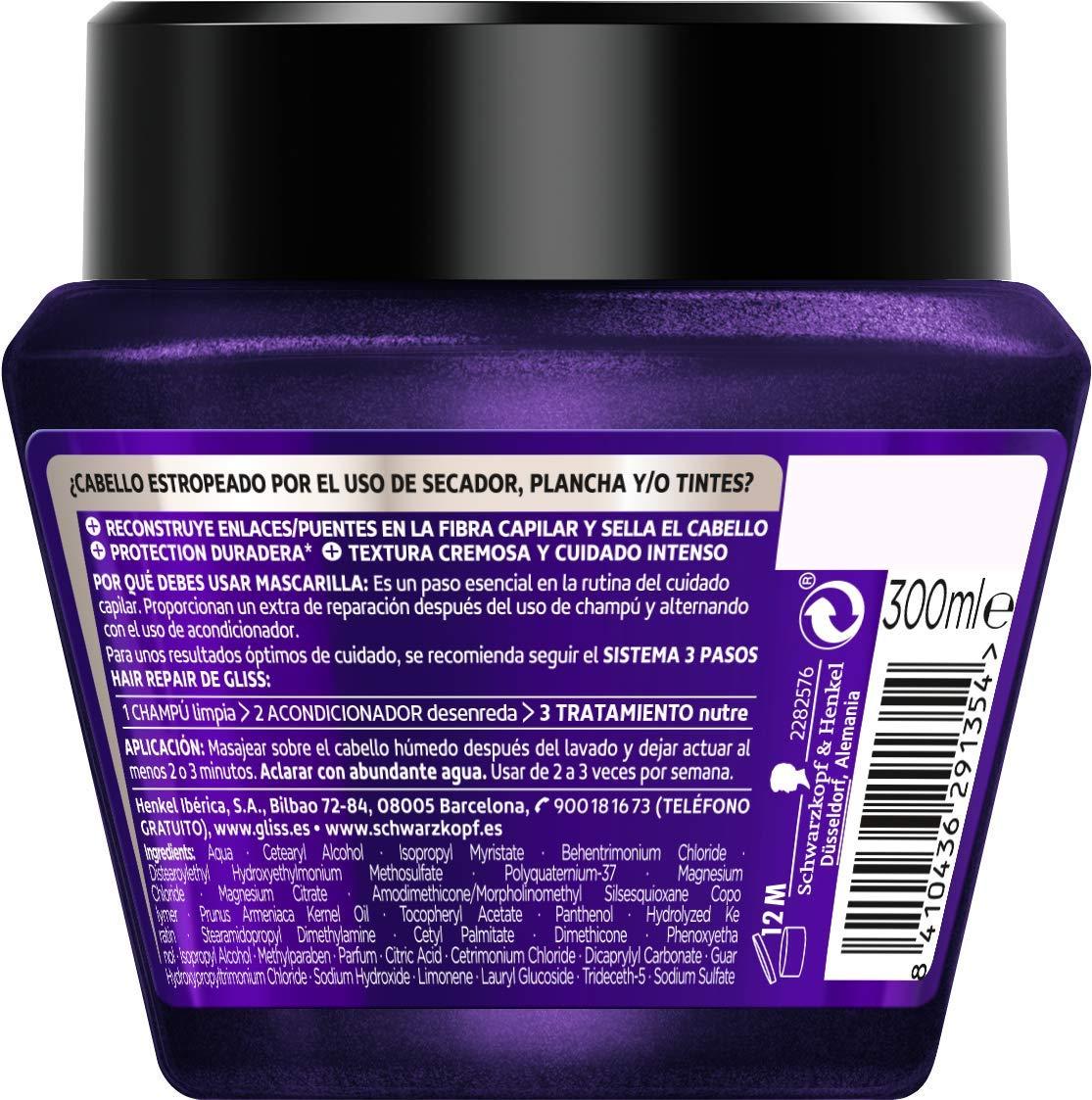 Amazon.com: GLISS FIBER THERAPY keratina líquida mascarilla 300 ml: Beauty