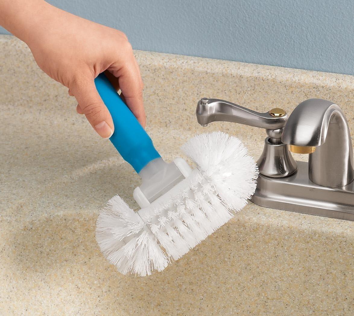 Dynamovolition Retractable Aluminum Rod Long Handle Brush Bathroom Cleaning Brush Bathtub Toilet Tile Brush Home Floor Brush