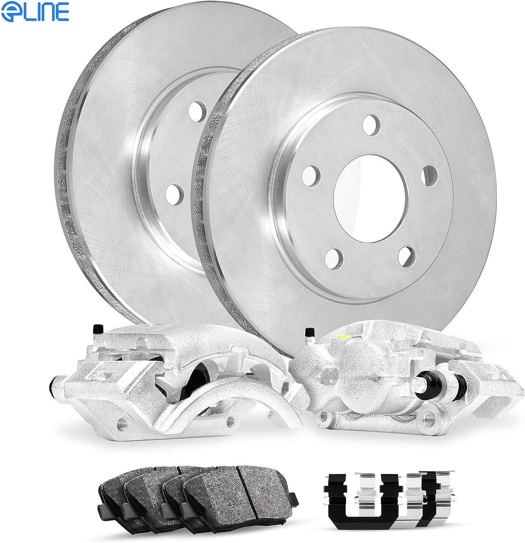 2013 For Hyundai Accent Front Disc Brake Rotors and Ceramic Brake Pads