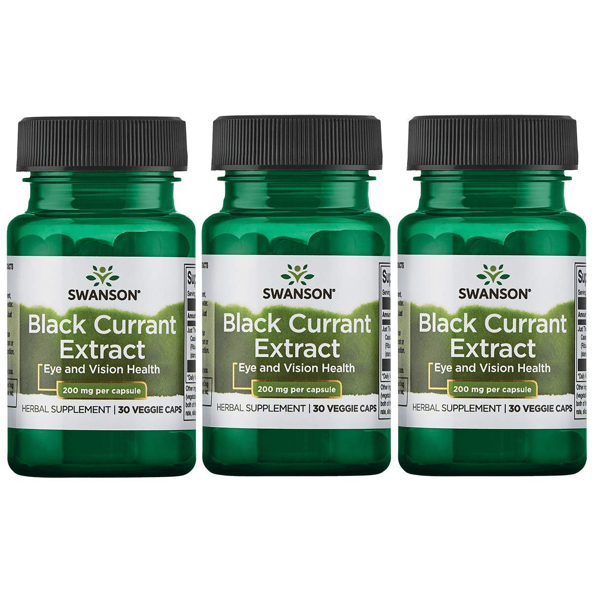 Swanson Black Currant Extract 200 mg 30 Veg Caps 3 Pack